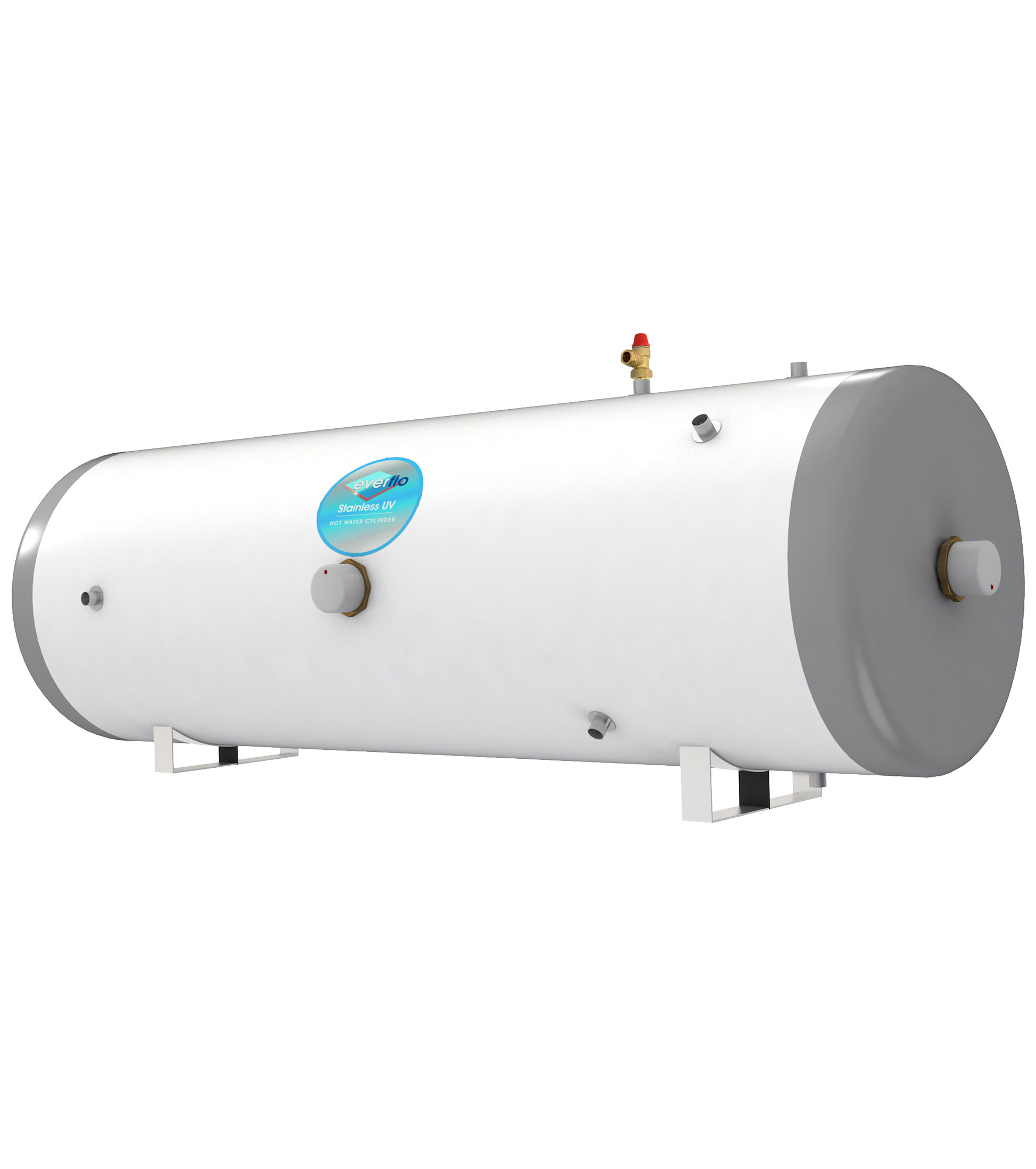 Everflo - Stainless 300L Horizontal Indirect Unvented Hot Water ...